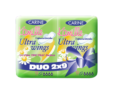 ABSORBANTE CARINE MUSETEL DUO-PACK X18BUC