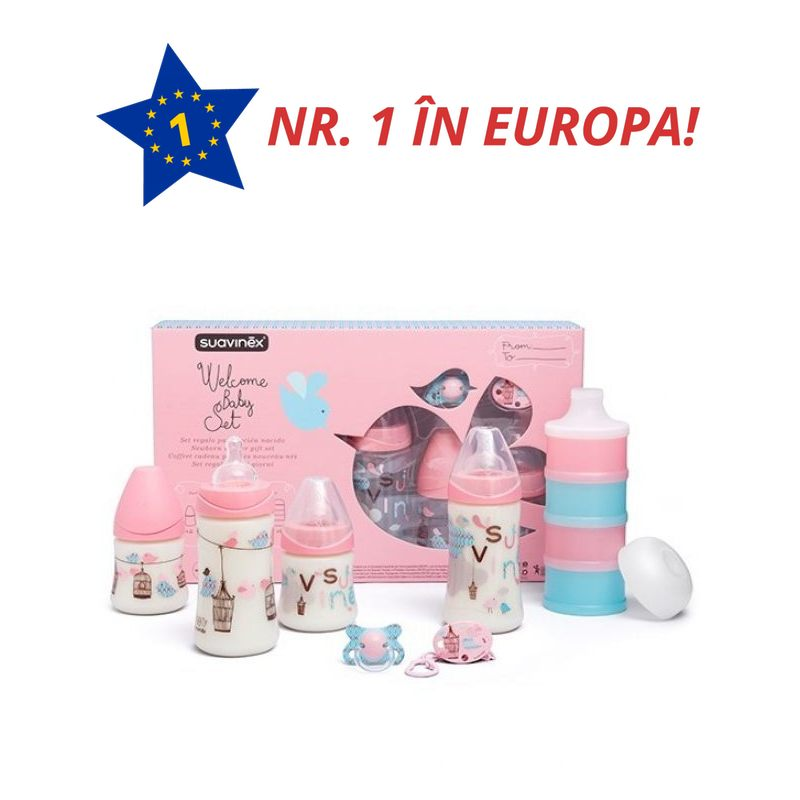 SET NOU NASCUT ROZ WELCOME BABY 017959 3800406