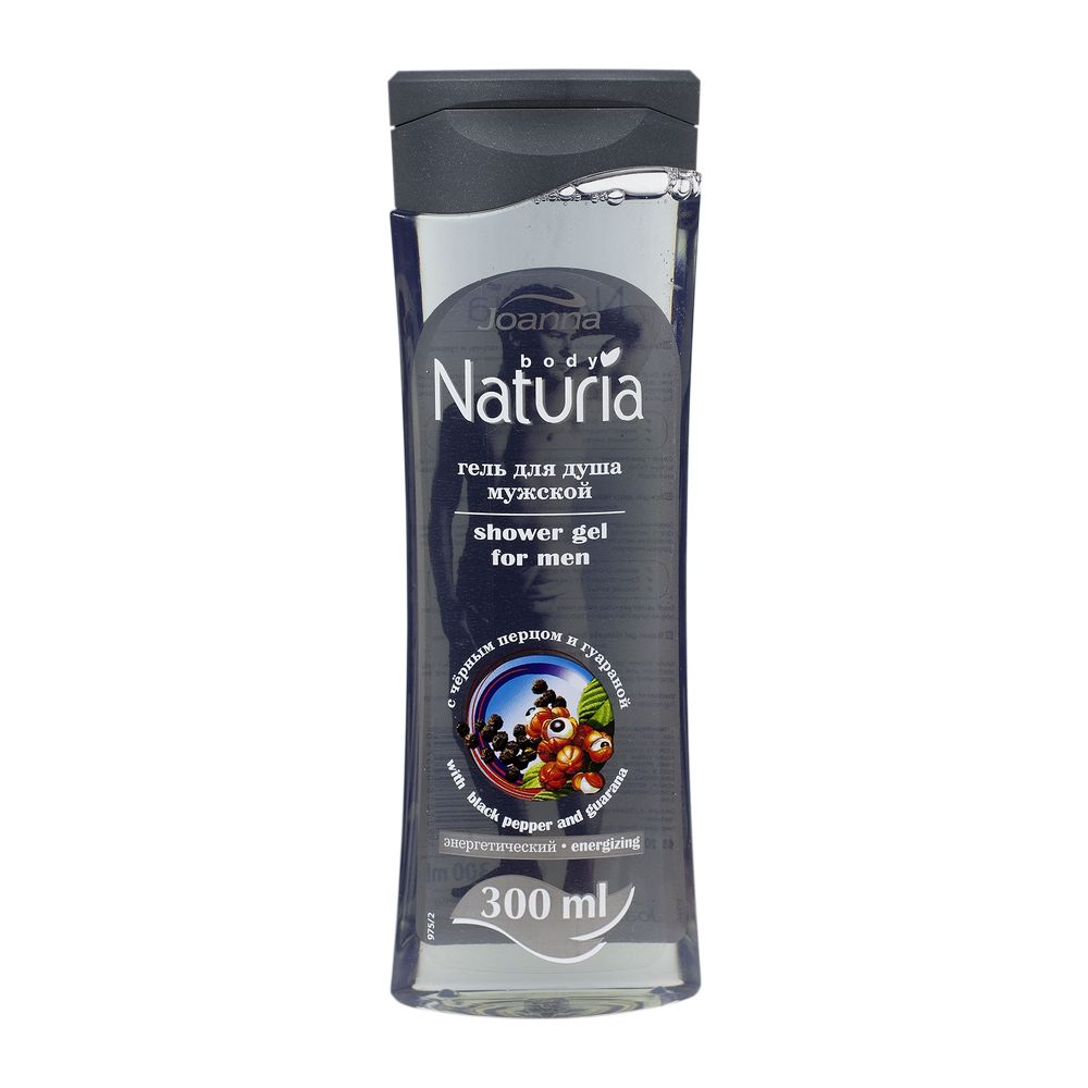 "GEL DUS BARBATI ""NATURIA"" PIPER NEGRU&GUARANA 300 ML"
